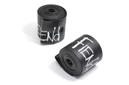 Fiend Rim Tape (Pair) - Black With White Logo 32mm Wide